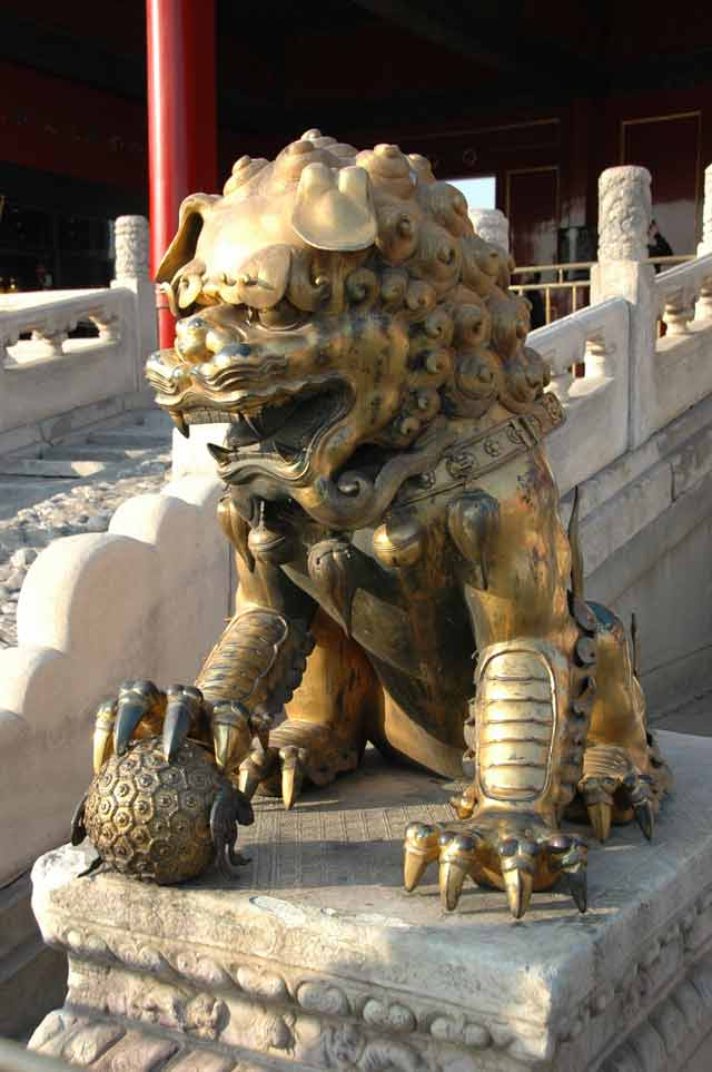 Lion, Forbidden City, Beijing China