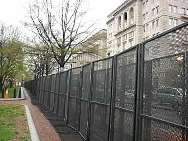 Fence on H Street, Washington D.C.