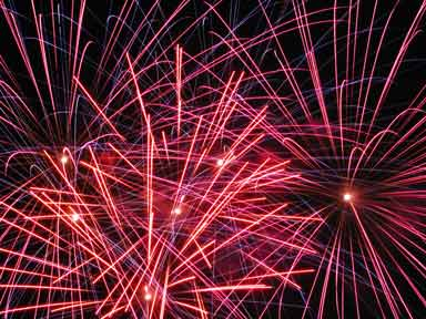 Fireworks on July 4, 2002