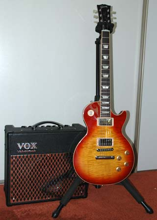 Les Paul Standard and VOX AD30VT