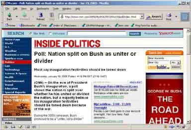 Nation split on bush as uniter or dividor