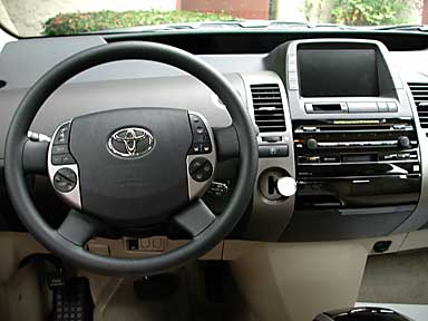 Dashboard of Prius