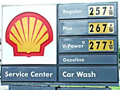 Shell Gas at $2.579