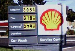 Gas Price on September 8, 2007. San Jose CA